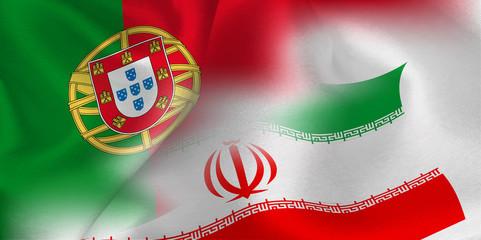 ポルトガル イラン  国旗 サッカー