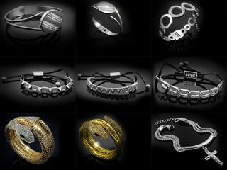 Set of jewelery photos - Ladies bracelets
