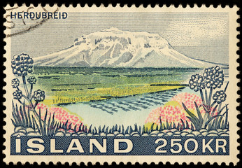Herdubreid Volcano Stamp