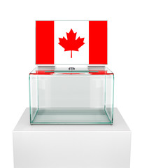 ballot box with the flag of Canada. 3d illustration
