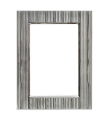 silver metal frame