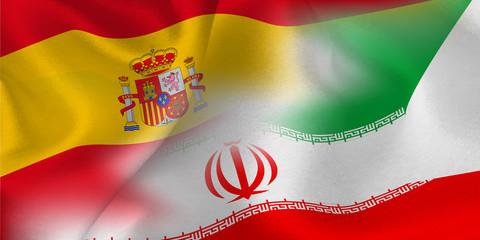 スペイン イラン  国旗 サッカー