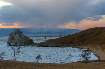 rock Shamanka at sunset