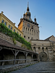 Castle in romania stock images. Sighisoara Romania. Clock Tower Sighisoara Transylvania. Sighisoara old town. Old houses in Romania. Ancient architecture in Transylvania