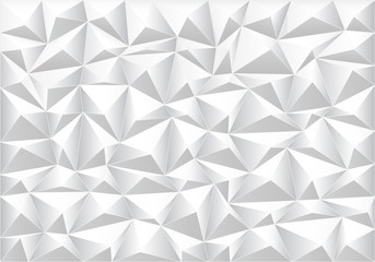 Abstract soft gray polygon pattern background texture vector illustration.