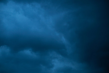 Stormy clouds for background.