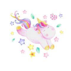 Small watercolor unicorn