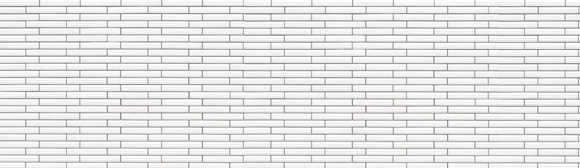 Panorama of White Ceramic tile brick wall texture and background