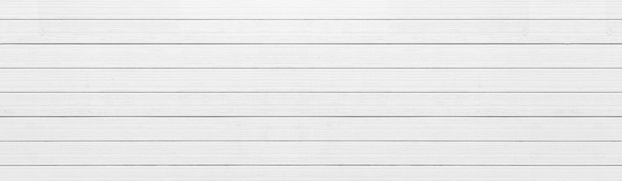 Panorama of Old vintage white wood background