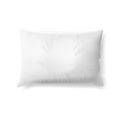 White Soft Pillow With Shadow