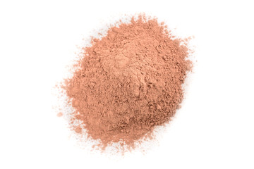 Pink cosmetic clay isolated on white background. Fototapete