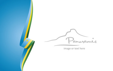 Rwanda abstract flag brochure cover poster background vector
