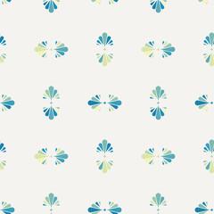 Seamless flower polka pattern