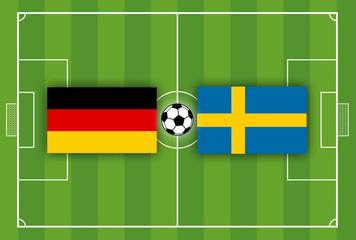Fußballfeld Fußballplatz Rasen Deutschland gegen Mexiko Schweden Südkorea