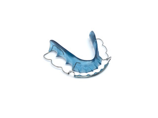Retainer blue on a white background, isolated