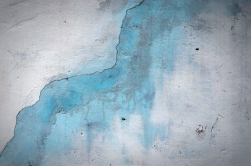 texture painted walls. blue wall with water drops.