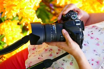 digitale Kamera einstellen