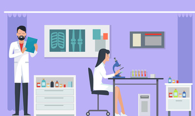 Laboratory and Researches on Vector Illustration