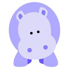 rhino cartoon 2D