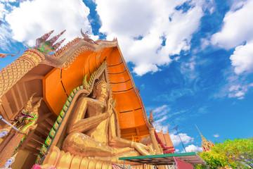 Big buddha statue in wat thum sue temple kanchanaburi thailand most popular religion traveling destination..