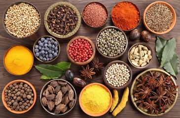 Photo sur Aluminium Herbs and spices.