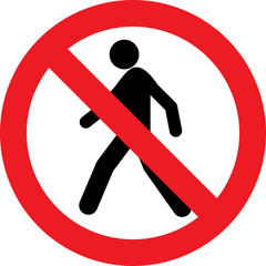 No pedestrian sign
