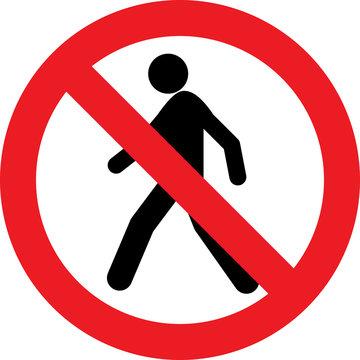 No pedestrian sign