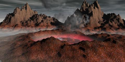 Virtuelle Vulkanlandschaft