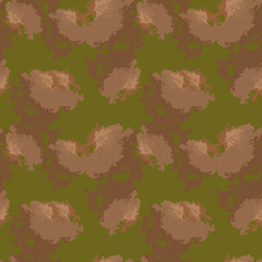 Abstract green and brown background as UFO camouflage