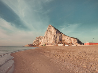 View to the rock of Gibraltar