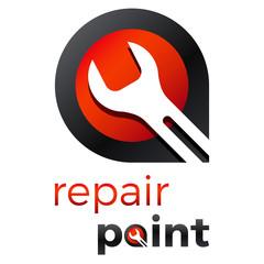 Wall Mural - Reparatur / Werkstatt - Logo Design