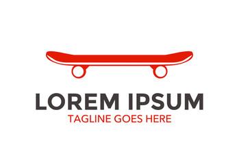 unique skateboard logo vector design
