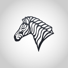 Zebra vector logo icon illustration