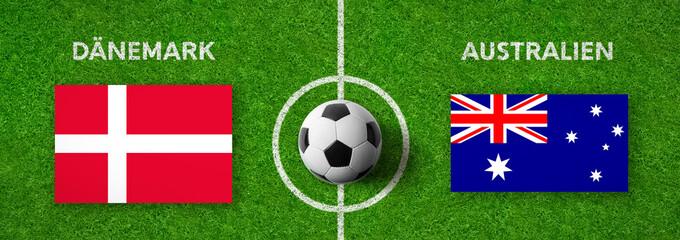 Fußball - Dänemark gegen Australien