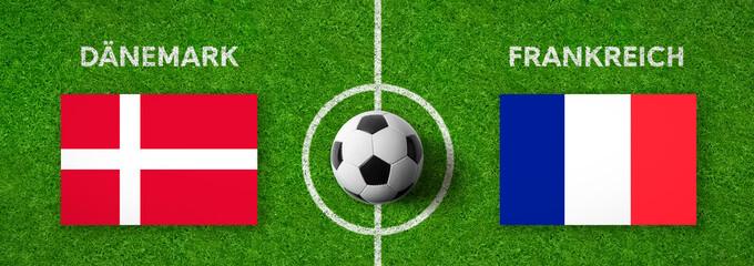 Fußball - Dänemark gegen Frankreich