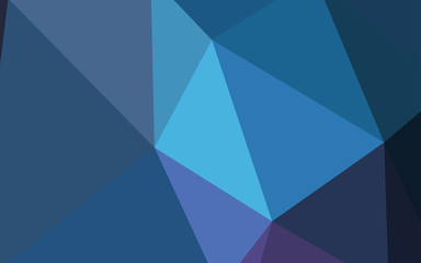 Dark Pink, Blue vector polygon abstract layout.