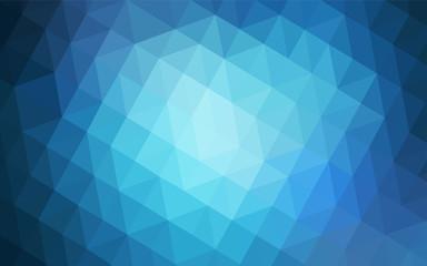 Light BLUE vector shining triangular backdrop.