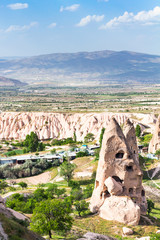 rock-cut house in Uchisar town in Cappadocia