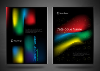 Design covers for business catalog, annual report, magazine, flyerp or booklet in A4 format for business, construction, medicine and new technologies.
