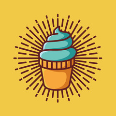 ice cream icon symbol logo template vector illustration