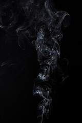 White isolated smoke of aromastick