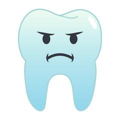 Zahn Emoji - beleidigt
