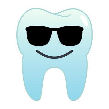 Zahn Emoji - Sonnenbrille