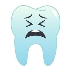 Zahn Emoji - zweifelnd
