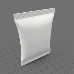 Blank snack packet
