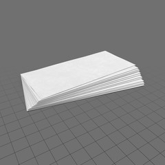Pile of blank business cards