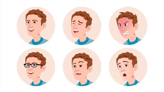 Avatar Icon Man Vector. User Person. Trendy Image. Flat Cartoon Character Illustration