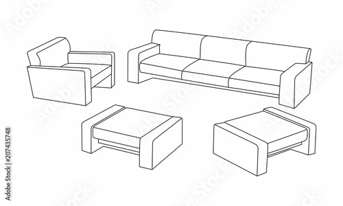 Awesome Set Of Modern Sofa Icon Design For Living Room Elements Cjindustries Chair Design For Home Cjindustriesco
