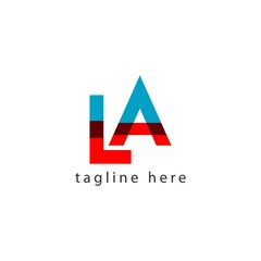 LA Logo Letter Vector Template Design Illustration