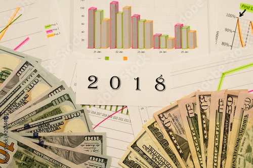schedule for the calendar concept 2018 business accounting finance statistics economics